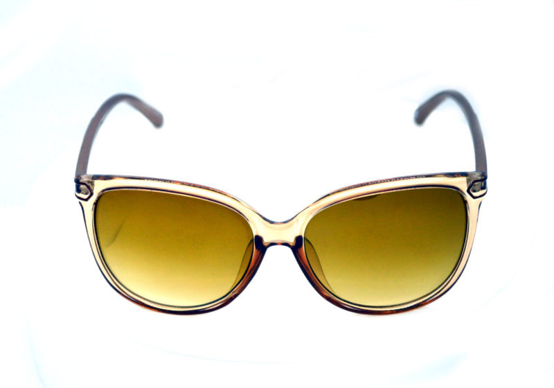 Shady Clear Butterfly Sunglasses with Yellow Gradient Tint 2