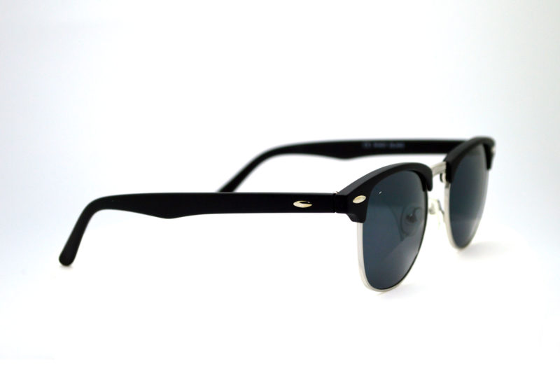 Shady Black Round Sunglasses with Dark Tint 1