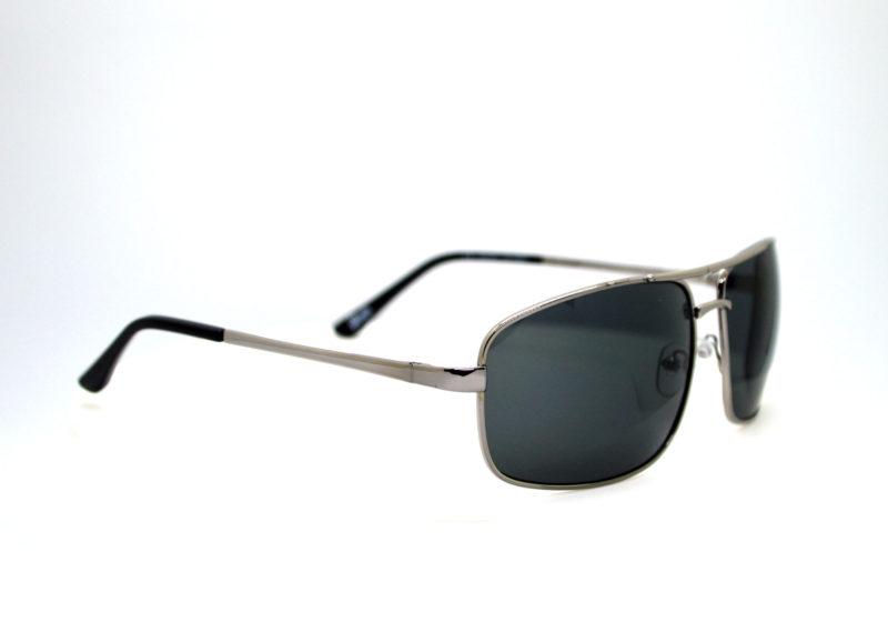 Shady Silver Finish Metallica Sunglasses with Dark Tint 1