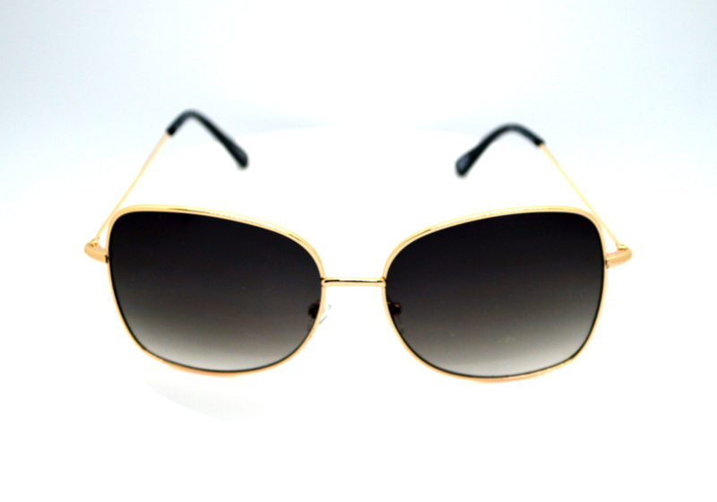 Shady Gold Finish Metallica Sunglasses with Black Gradient Tint 2