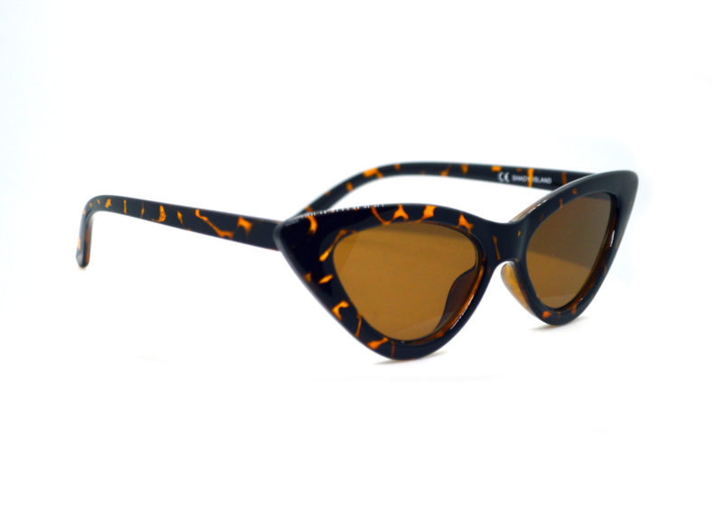 Shady Tortoise Print Butterfly Sunglasses with Brown Tint 1